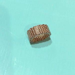 Tiffany & Co Mesh Silver Somerset Ring 6
